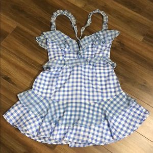 For Love And Lemons🍋Dixie Gingham Mini Dress